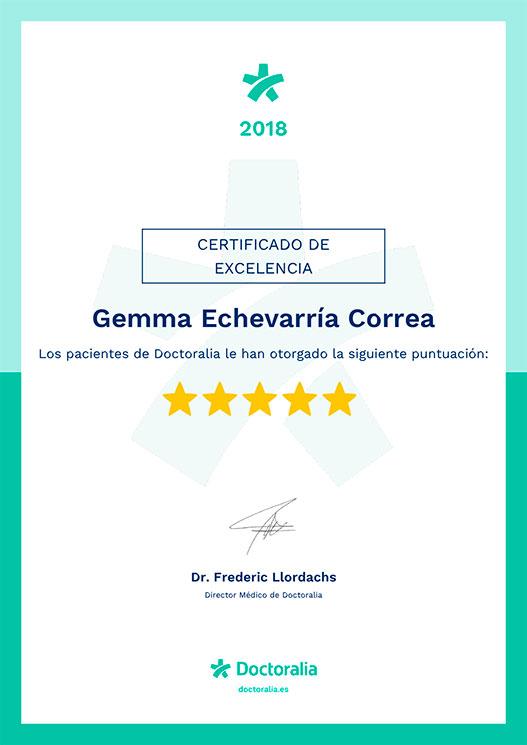 Certificado Doctoralia 2018